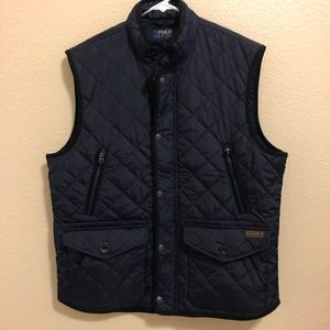 SALE! POLO RALPH LAUREN NAVY VEST MENS SIZE L